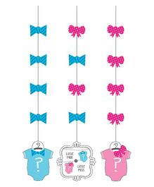 Party Propz Baby Shower String Decoration - Blue Pink