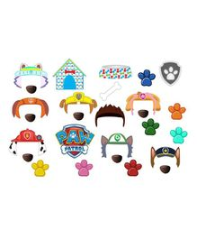 Party Propz Paw Patrol Photobooth Props Multicolor - Pack of 20