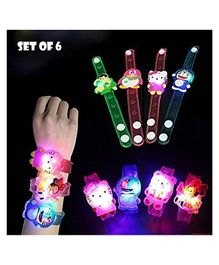 Party Propz Cartoon Characters LED Light Bracelets - Pack of 6