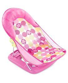 Summer Infant Mothers Touch Deluxe Baby Bather Circle Daisy Print - Pink
