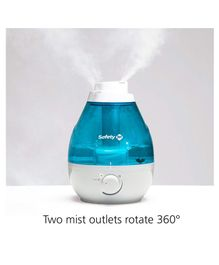 Safety 1st 360 degree Cool Mist Ultrasonic Humidifier - White Blue