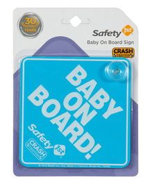 Safety 1st Baby On Board Sign - Blue
