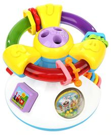 Kiddale Projection Steering Wheel Toy - Multicolor