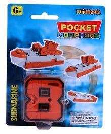 Pocket Morphers Transforming Submarine Toy - Orange