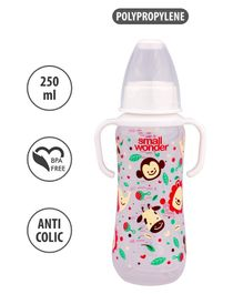 Small Wonder Twin Handle Feeding Bottle White - 250 ml