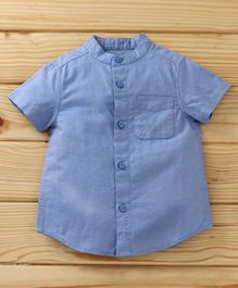 UCB Half Sleeves Solid Shirt - Blue