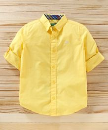 UCB Full Sleeves Solid Shirt - Yellow
