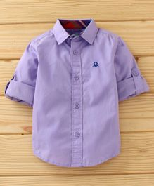 UCB Full Sleeves Solid Shirt - Lavender