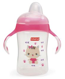 Babyhug Hushie Soft Spout Sipper With Handle Pink - 300 ml