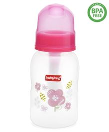 Babyhug Cereal Feeder With Spoon Pink - 150 ml