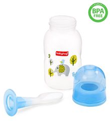 Babyhug Cereal Feeder With Spoon Blue - 150 ml