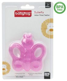 Babyhug Water Filled  Butterfly Shaped Teether - Pink