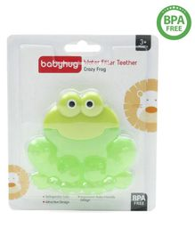 Babyhug Water Filled Teether Crazy Frog - Green