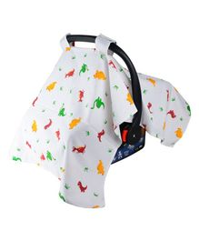 Wonder Wee Carry Cot & Car Seat Canopy Cover Dino Print