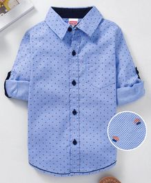 Babyhug Full Sleeve Printed Shirt - Blue