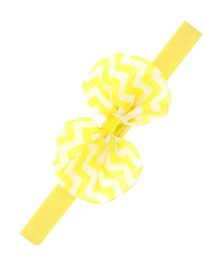 Bellazaara Chevron Bow Headband - Yellow