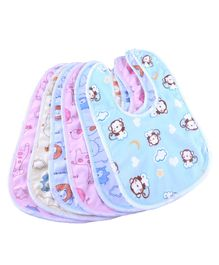 My Newborn Cotton Bibs Set of 6 - Multicolour