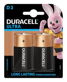 Duracell Ultra Alkaline D Batteries - Pack of 2