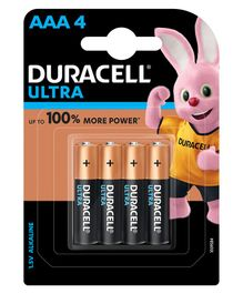 Duracell Ultra Alkaline AAA Batteries - Pack Of 4
