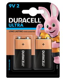 Duracell Ultra Alkaline 9 V Batteries - Pack Of 2
