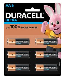 Duracell Ultra Alkaline AA Batteries - Pack Of 6