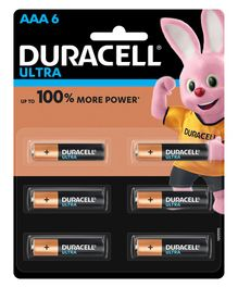 Duracell Ultra Alkaline AAA Batteries - Pack Of 6
