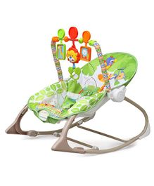 The Flyers Bay Fiddle Diddle Baby Bouncer Cum Rocker  - Green