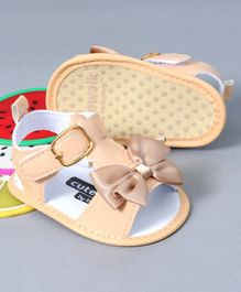 b8d235ceb2e7 Cute Walk by Babyhug Sandals Style Booties Bow Applique - Cream
