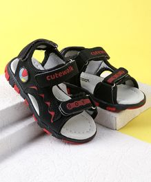 Cute Walk by Babyhug Velcro Closure Sandals - Black
