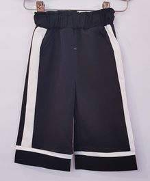 Aww Hunnie Side Striped Full Length Culottes With Side Pocket - Blue