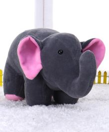 Play Toons Elephant Soft Toy Grey - Height 19 cm
