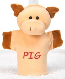 Play Toons Plush Piggy Hand Puppet Peach - Height 21 cm