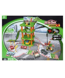 Wembley Toys Cars and Helicopter Auto Parking Garage Set - Green