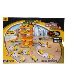 Wembley Toys Cars and Helicopter Auto Urban Designer Set - Yellow