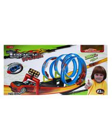 Wembley Toys 360 Hot Speed Powerful Spin Loop Way Track Set Blue - 23 pieces