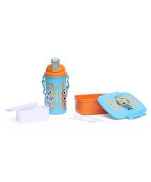 Minions Lunch Box And Water Bottle Combo Pack - Orange Blue