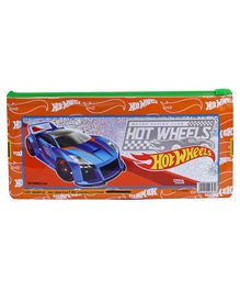 Hot Wheels Sparkle Pencil Pouch - Orange