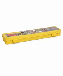 Tom & Jerry Print Pencil Box - Yellow