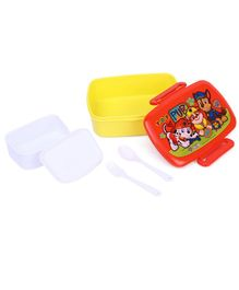 Paw Patrol Lunch Box Top Pups Print - Red Yellow