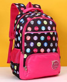 Barbie School Bag Black Pink - Height 19 inches