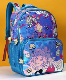 Barbie School Bag Blue - Height 16 inches
