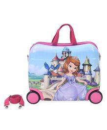 Disney Sofia The First Kids Trolley With Belt Pink - 16 Inches