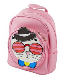 Kidofash Cat Face Patch School Bag - Pink