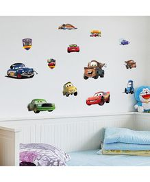 Oren Empower Funny Cartoon Cars Wall Stickers - Multicolour