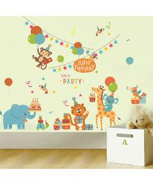 Oren Empower Jungle Theme Wall Sticker - Multicolor