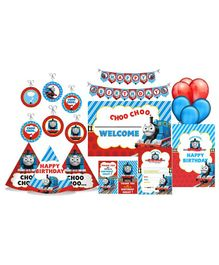 Prettyurparty Thomas & Friends Party Decoration Kit Blue Red - Pack of 90