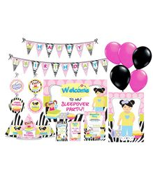 Prettyurparty Slumber Party Decorations Package - Pink