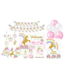 Prettyurparty Unicorn Party Decoration Pack of 90 - Multicolor