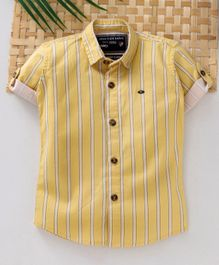 Jash Kids Half Sleeves Striped Shirt - Yellow