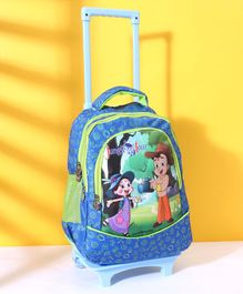 Chhota Bheem School Trolley Bag Blue - Height 17 inches